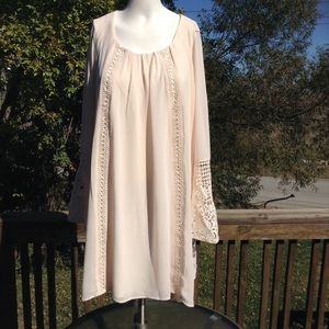 NWT Sequin Hearts Bell Sleeve Dress